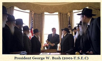 President Bush with Chabad