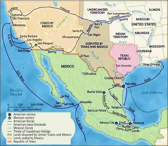 John C Calhoun Vetoes Annexation Of Mexico David Dukecom - Us map mexican war