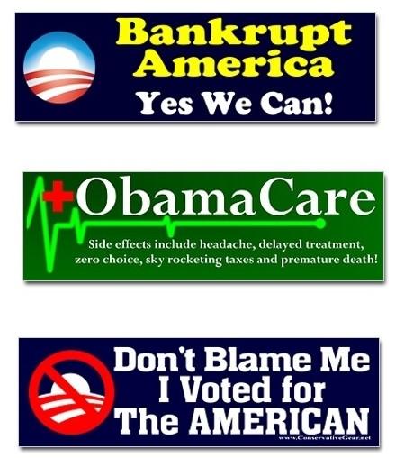 Anti obama bumper stickers stormfront