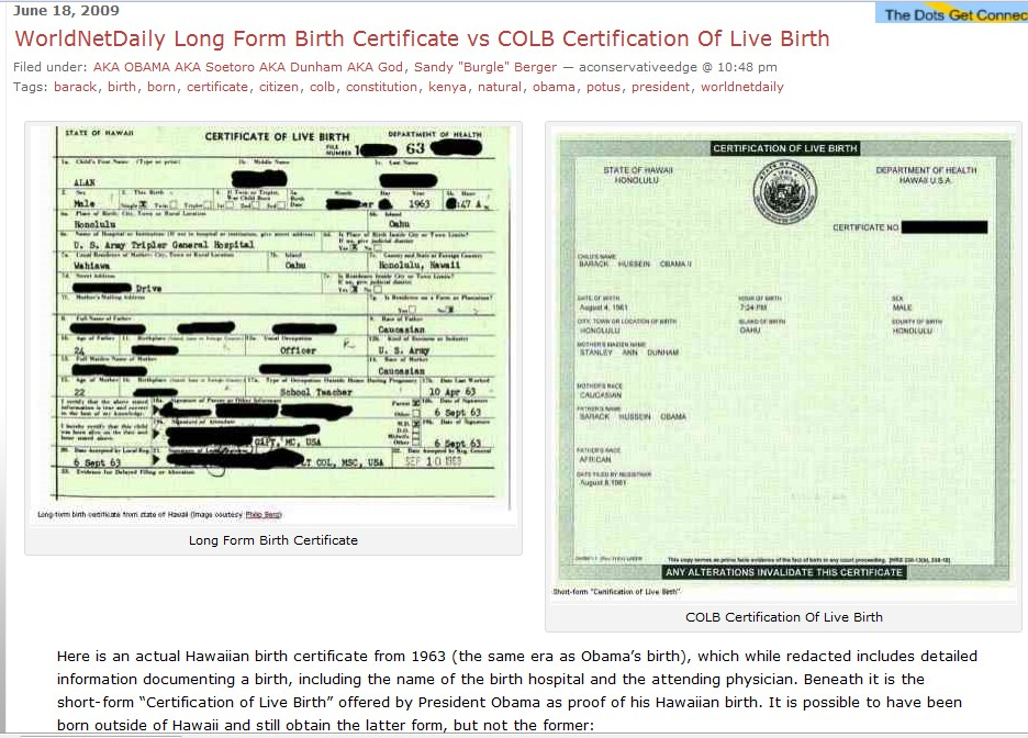 Obama Releases Long Form Birth Certificate, Will Mention in Speech ...
