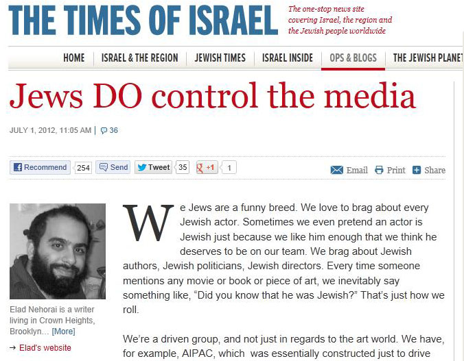 Image result for jews control media