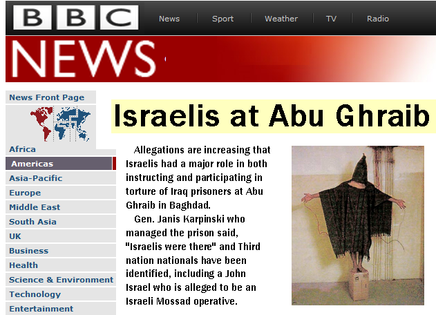 israelis at abu ghraib bbc