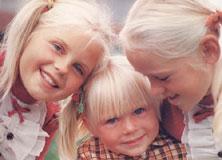 Blonda barn