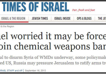 Zionists Panic as Assad Move Outsmarts them on Chemical Weapons