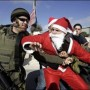 israel-santa-claus-being-beaten