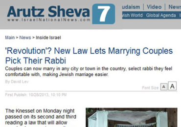 "Israel Passes ""New"" Marriage Law in Attempt to Hide anti-Gentile Racism"