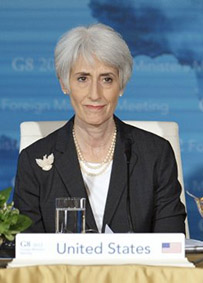 "Wendy Sherman, the ""American"" negotiator in Jerusalem...."
