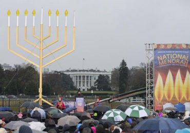 Menorah Lighting at White House:Celebrating Jewish Racism & Genocide!