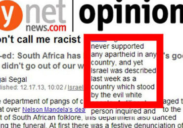 "Israel Never Stood by ""Evil White People"" in South Africa—Leading Jewish Supremacist Journalist"