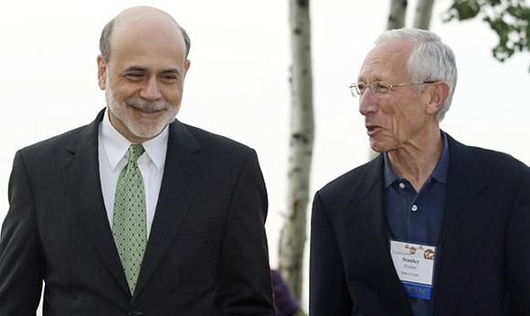 Bernake, left, and Fischer, right.