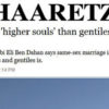"""Homosexual Jews have """"Higher Souls"""" than Non-Jews"""