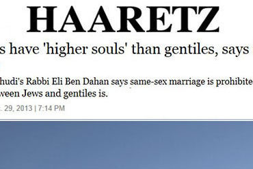 "Homosexual Jews have ""Higher Souls"" than Non-Jews"