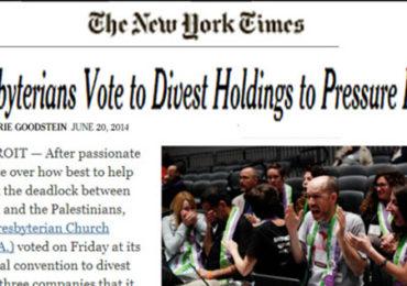 Victory! Presbyerian Church Votes Israeli Disvestment!