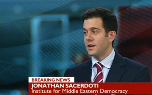 "Jonathan Sacerdoti, Zio-Supremacist, posing as an ""independent expert"" on the BBC."
