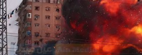 A building in Gaza is destroyed by Israeli missiles. See the full video below.