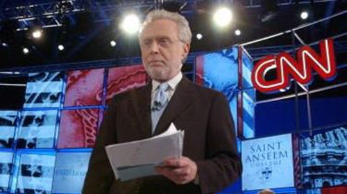 "Wolf Blitzer, posing as an ""objective presenter on CNN""-- in fact Blitzer is an extremist Zio-Supremacist who actually worked as an AIPAC agitator before taking up ""journalism,"""
