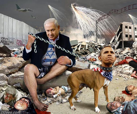 dees-netanyahu-holding-obama-dog-gaza