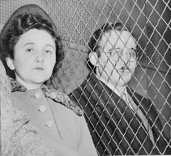Communist Jew spies Ethel and Julius Rosenberg, executed in 1953 for conspiracy to commit espionage during a time of war.
