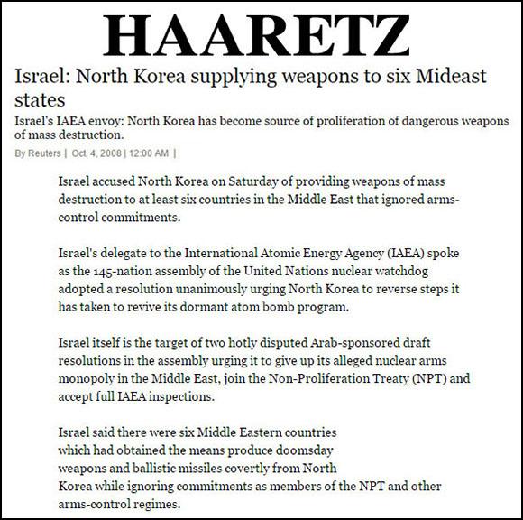Haaretz-NK-missle-sales