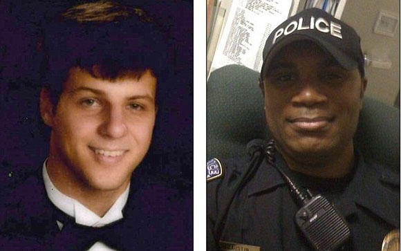 Gilbert Collar, left, shot dead by Officer Trevis Austin, right,  in Alabama. No media uproar....