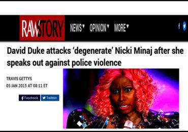 David Duke on Nicki Manaj. Exposing Zio Media Lies!