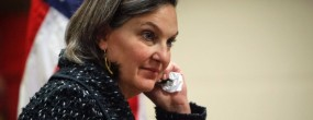 U.S. Assistant Secretary of State Victoria Nuland arrives at a news conference at the U.S. embassy in Kiev