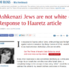 """Times of Israel writer insists """"Jews are not white"""""""