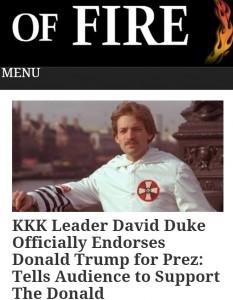 duke trump endorsemnts