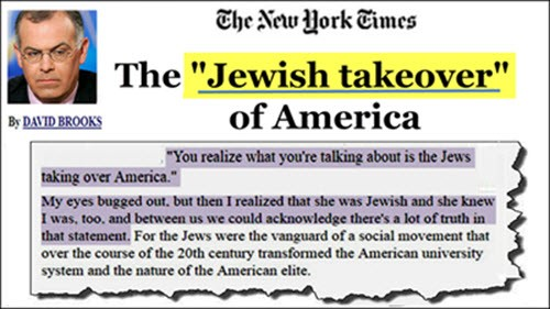 Brooks jewish takeover of america elite ny times websize