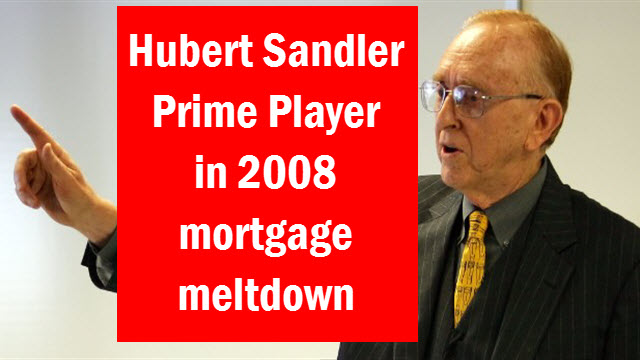 Hubert Sandler Jewish banker mortgage meltdown