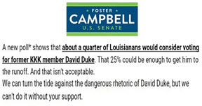 doster campbell message on David Duke small size