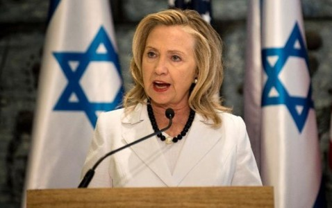 hillary-clinton-israeli-flags