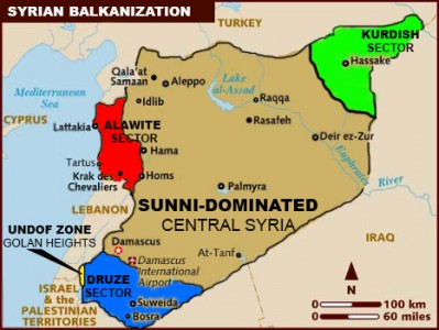 Israeli leaders confirm divide and conquer scenario eye partition syria ethnic map gumiabroncs Gallery