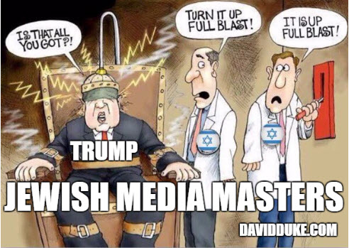 Jewish media masdters cartoon donald trump