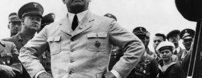 (GERMANY OUT) 12.02.1885 - 16.10.1946Politiker, NSDAP, D- nach der Landung auf dem FlughafenBerlin - Tempelhof bei einer Ansprache- 15.08.1935 (Photo by ullstein bild/ullstein bild via Getty Images)