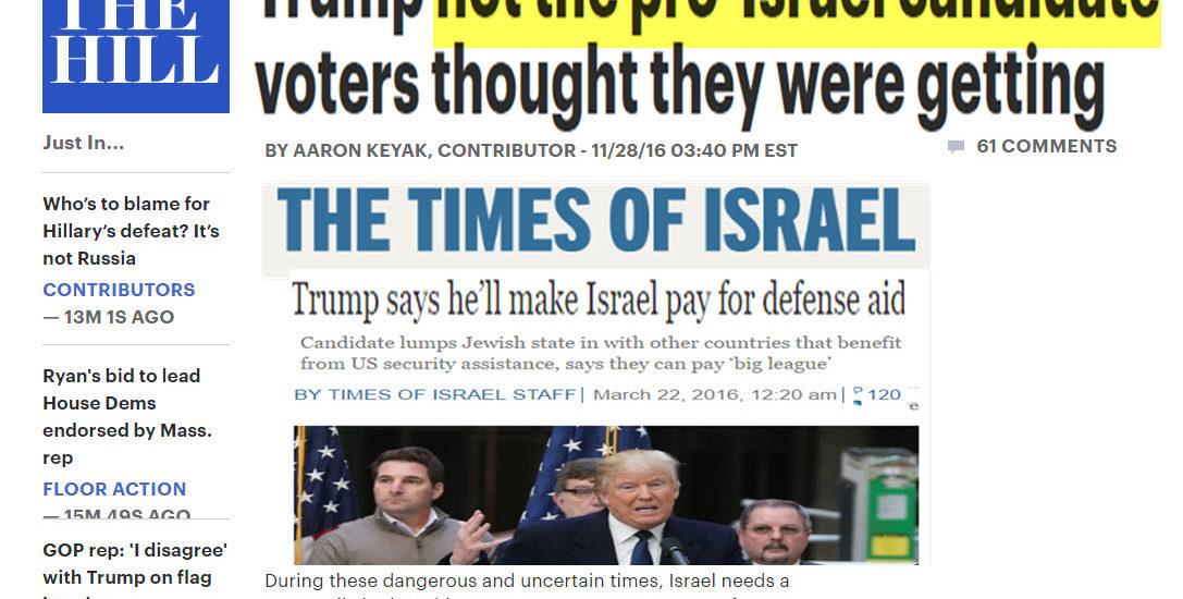 Why the Jewish Establishment Hates Donald Trump