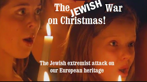 The Jewish War on Christmas – The Jewish establishment decades-old attack on Christmas! Menorahs Replace Mangers!