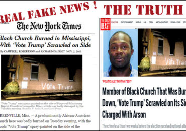 NY Times & MSM Fake News Exposed in Anti-White, Anti-Trump Hate Crime!