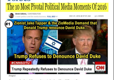 Forbes: Jewish Media Reaction to Duke Support Backfires & is Pivotal to Trump Win!