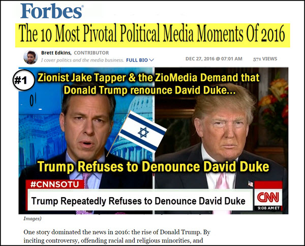 Forbes: Jewish Media Reaction to Duke Support Backfires & is Pivotal
