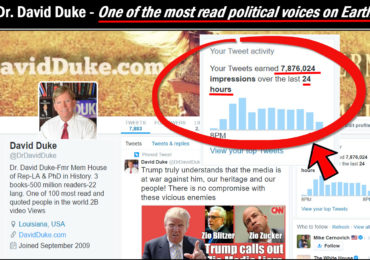 Dr. Duke Twitter account taken after urging Trump to prosecute Obama Administration crimes! – RESTORED!
