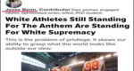 ZioMedia Says White Football Players Who Stand up for American Flag and Anthem Hatefully Calls them White Supremacists!