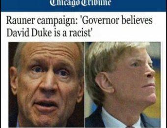 "Gov Rauner Calls Dr Duke ""Racist"" but Loves Massive Anti-White Racist Discrimination – Duke Responds & Makes a Call for White Courage!"