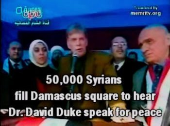 Dr Duke Speaks for Peace to 50,000 Syrians in Damascus!