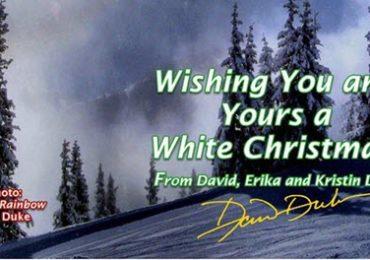 """""""White Christmas"""" Card From Dr. David Duke"""