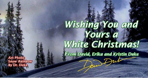 """White Christmas"" Card From Dr. David Duke"