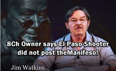 "11:01 AM Dr Duke & Mark Dankof – According to 8Ch El Paso Shooter DID NOT POST the ""Manifesto"" So Who Did? And Why?"