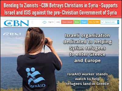 CBN Tells Christians How wonderful it is that Israelis are Supporting the Invasion of Europe!