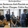 "The NYTimes: Evil Russkies jail gentle, loving Antifa ""activists"" to monstrous sentences for Bogus Terrorism."