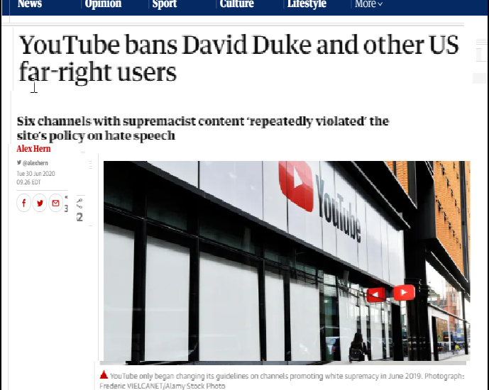 Dr Duke & Andy Hitchcock of UK on Google Ban of  David Duke – Zio Big Brother Tyrants Strikes Again!